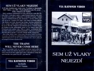Sem už vlaky nejezdí, původní obal kazety VHS