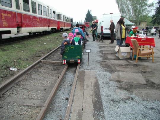 Zahradní železnice v areálu výtopny v Benešově