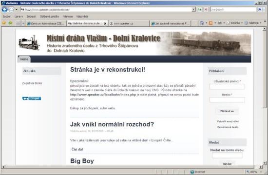 Rekonstrukce webu
