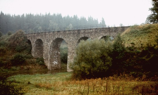 Keblovský viadukt, stav v roce 1979