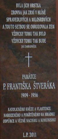 Pamětní deska Franiška Štveráka